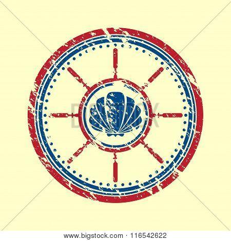 Shell symbol grunge