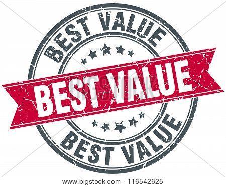 Best Value Red Round Grunge Vintage Ribbon Stamp