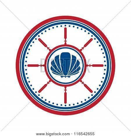 Shell symbol on white