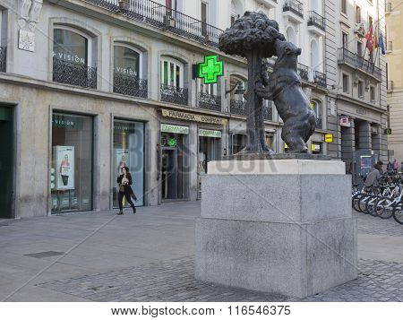 Symbol Of Madrid - Bronze Bear
