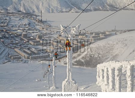 Chairlift In Kirovsk, Russia