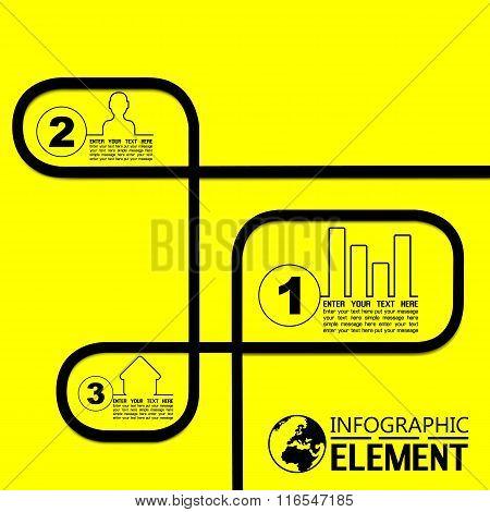 Infographic Simple Template Background Yellow