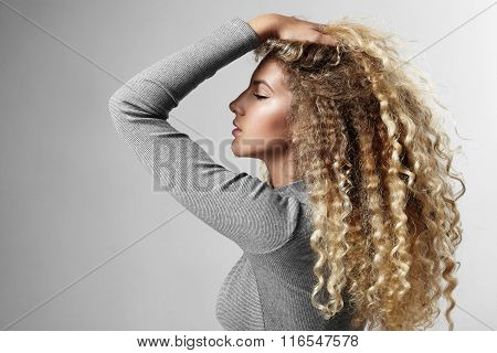 Woman With A Big Blondy Hair
