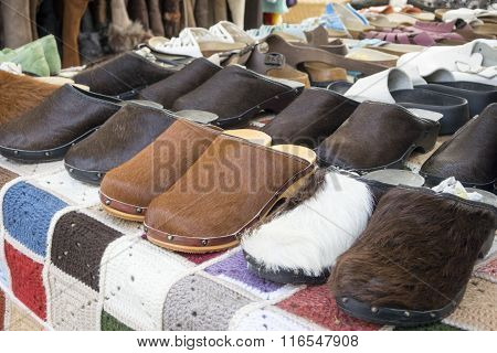 Dutch Leather Clogs