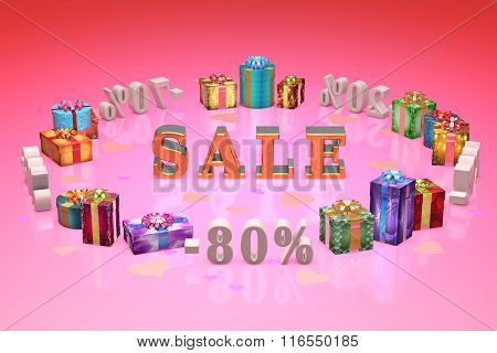 Shopping And Gifts Valentines Day (discounts, Dumping,%, Percentages, Purchase, Sale)