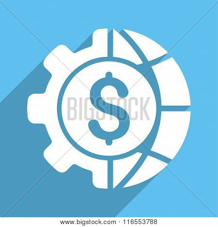 World Industry Finances Long Shadow Square Icon