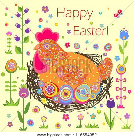 Funny easter applique