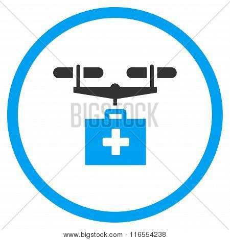 Drug Drone Delivery Rounded Icon