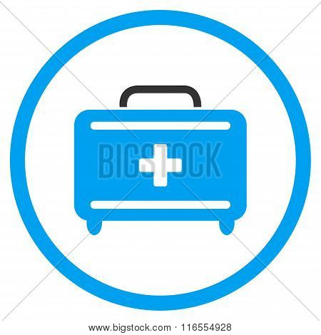 First Aid Toolkit Rounded Icon