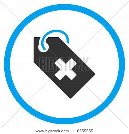 Hospital Tag Rounded Icon