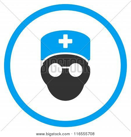 Medic Head Rounded Icon