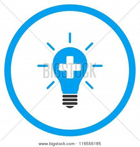 Medical Electric Lamp Rounded Icon