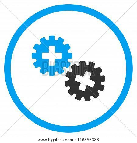 Medical Gears Rounded Icon