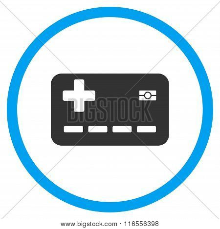 Medical Insurance Card Rounded Icon