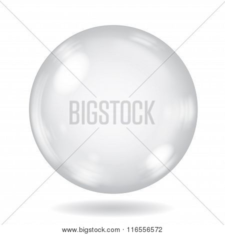 Big White Opaque Sphere