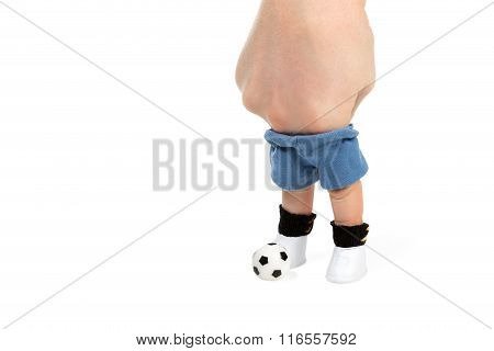 Human Finger And Soccer