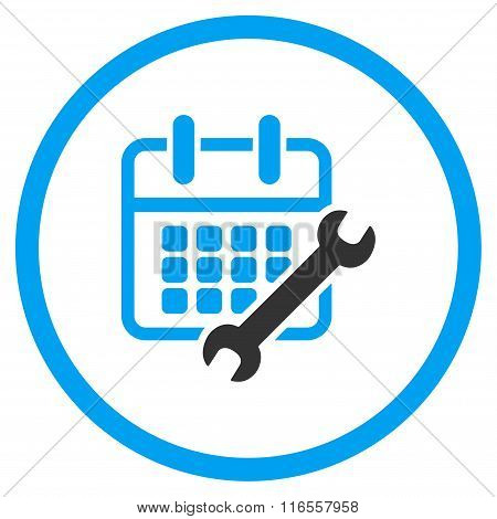 Calendar Configure Rounded Icon