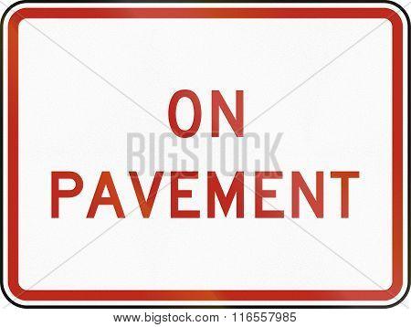 United States Mutcd Regulatory Road Sign - On Pavement