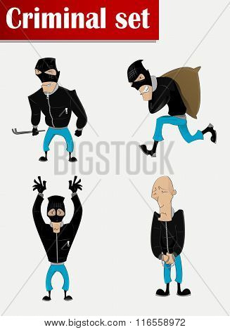 Robber In Mask Set