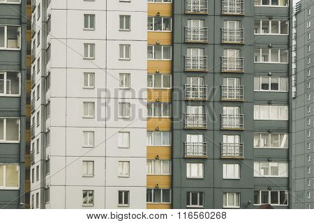 Residential house, windows and balconie