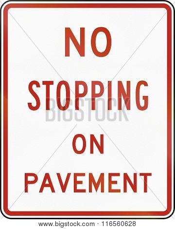 United States Mutcd Regulatory Road Sign - No Stopping