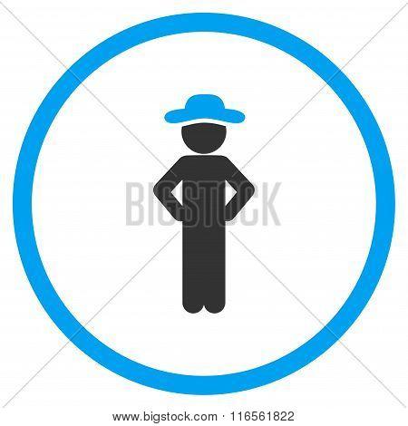 User Akimbo Circled Icon