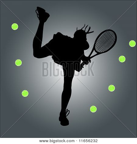 tennis player - vector