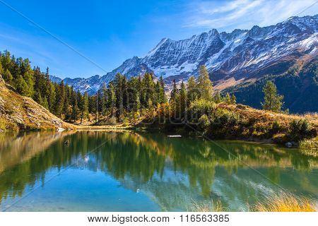 Stunning View Of The Alps In Loetschental