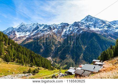 Beautiful View Of  Loetschental Valley