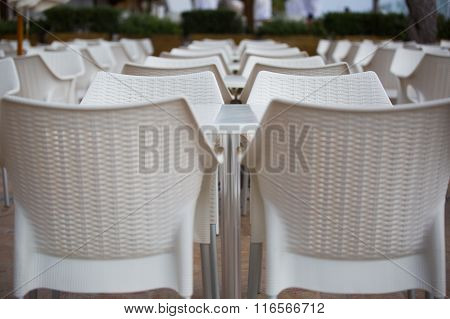 Aligned Chairs And Tables