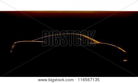 An image of a sports car silhouette