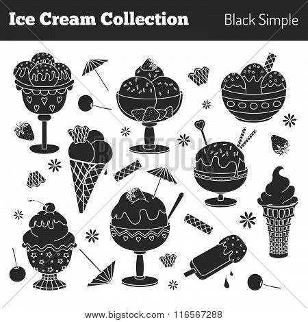 Collection Of Hand Drawn Ice Cream Treats
