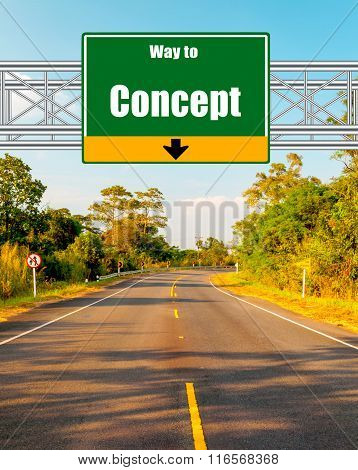 Road Sign concept Country Road