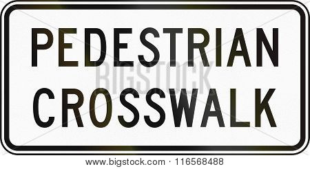 United States Mutcd Road Sign - Pedestrian Crosswalk