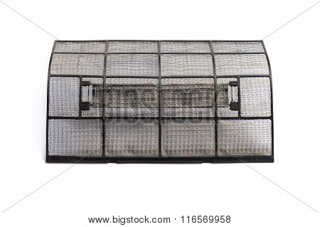 Dirty dust filters of air conditioner isolated on white background