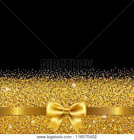 Golden Glitter Postcard