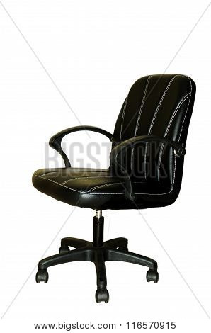 Office chair sitting on the white background.