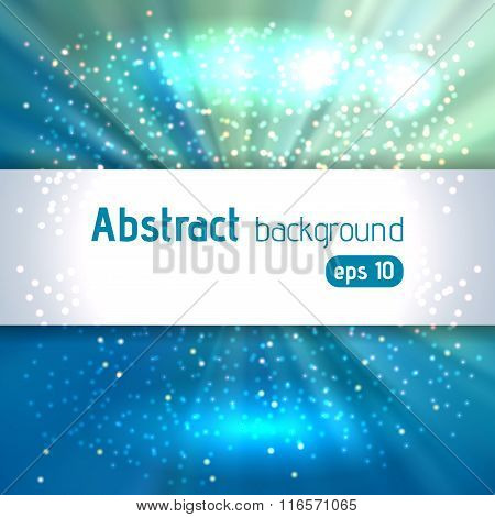 Beautiful Rays Of Light. Shiny Eps 10 Background. Blue Radial Radiant Effect. Vector Illustration