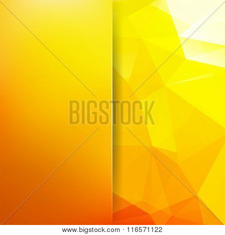 Abstract Geometric Style Orange Background. Sunny Business Background Blur Background With Glass. Ve