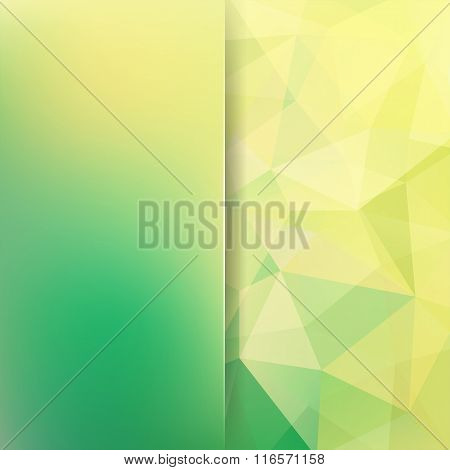 Polygonal Vector Background. Blur Green Background. Can Be Used In Cover Design, Book Design, Websit