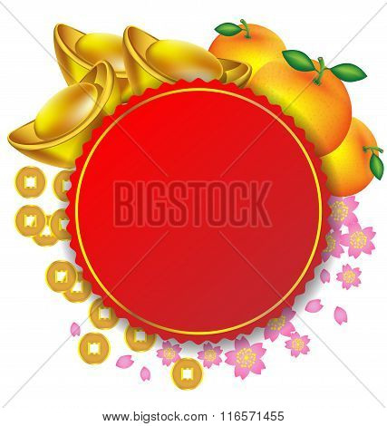 Chinese New Year Decoration Vector Background