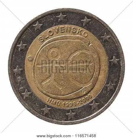 2 Euro Coin From Slovakia (slovensko)