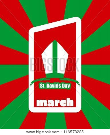 St Davids Day  Greeting Card Template