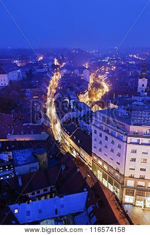 Radiceva Street In Zagreb
