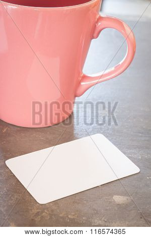 Name Card With Coffee Cup