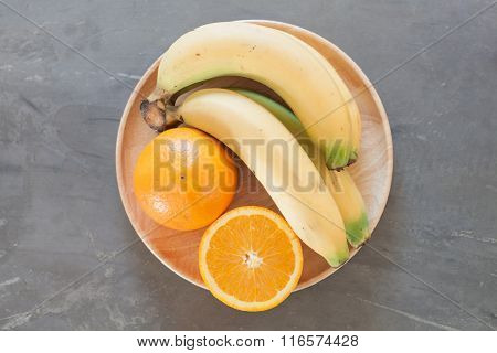 Healthy Fruits With Oranges And Bananas