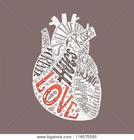 Lettering In Heart
