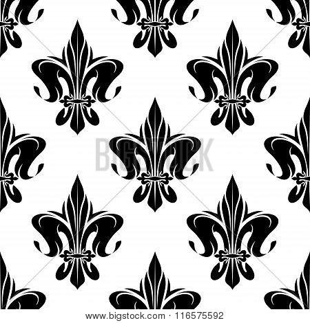 Royal floral fleur-de-lis seamless pattern