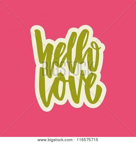 Hello Love Lettering