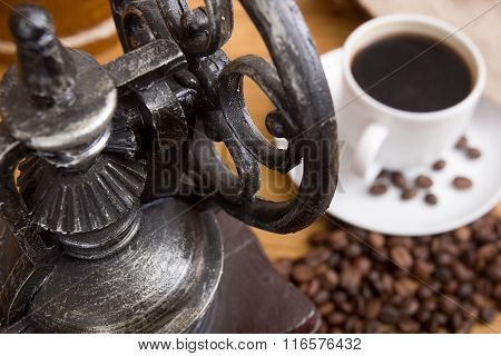 Mechanical Antique Coffee Grinder